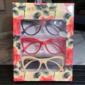Betsey Johnson Stylish Large Cat Eye Readers